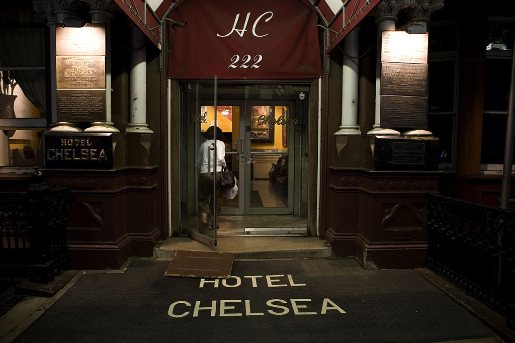 Entrada al Hotel Chelsea, New York, hotel chelsea de nueva york,