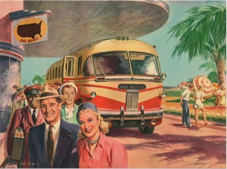 Sale el bus con los pasajeros