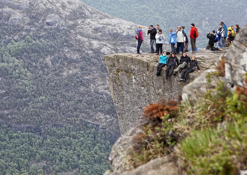 Turistas en el púlpito, noruega