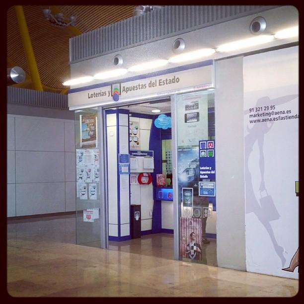 Loterías en el aeropuerto de Barajas,
