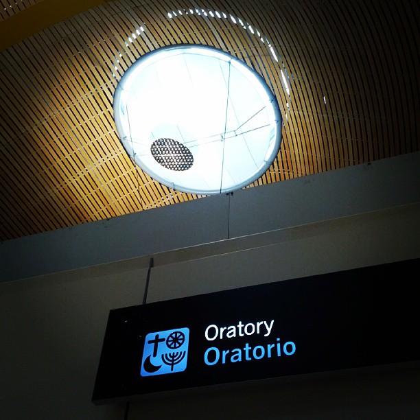 Oratorio en Barajas, aeropuerto