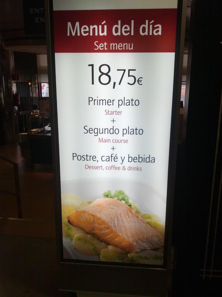Restaurante y cafetería en el aeropuerto Barajas Adolfo Suarez