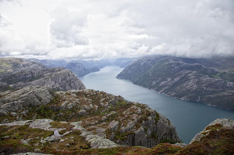 Preikestolen, Noruega, Fiordos, Lysefjord