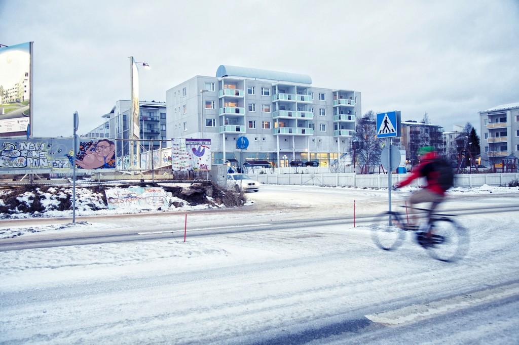 Una calle cualquiera en un noviembre cualquiera en Rovaniemi