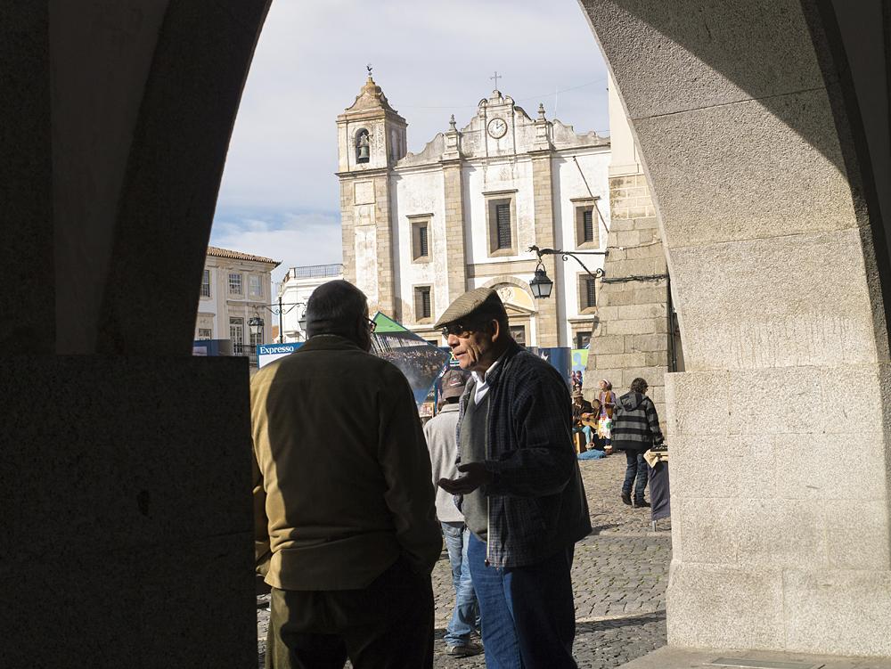 Praça do giraldo de Évora.