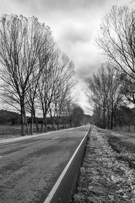 Carretera en Navaluenga, Avila
