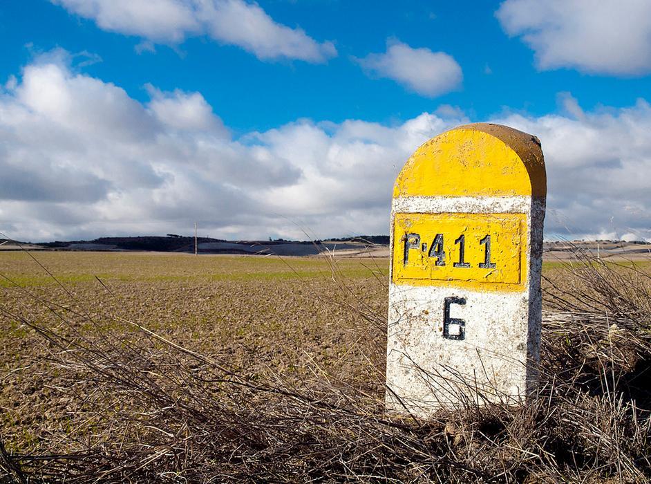 Mojón en la provincia de Palencia, Castilla y León