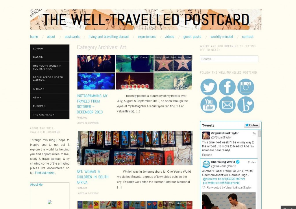 best travel blogs, the well-travelled postcard, blog de viajes extranjeros
