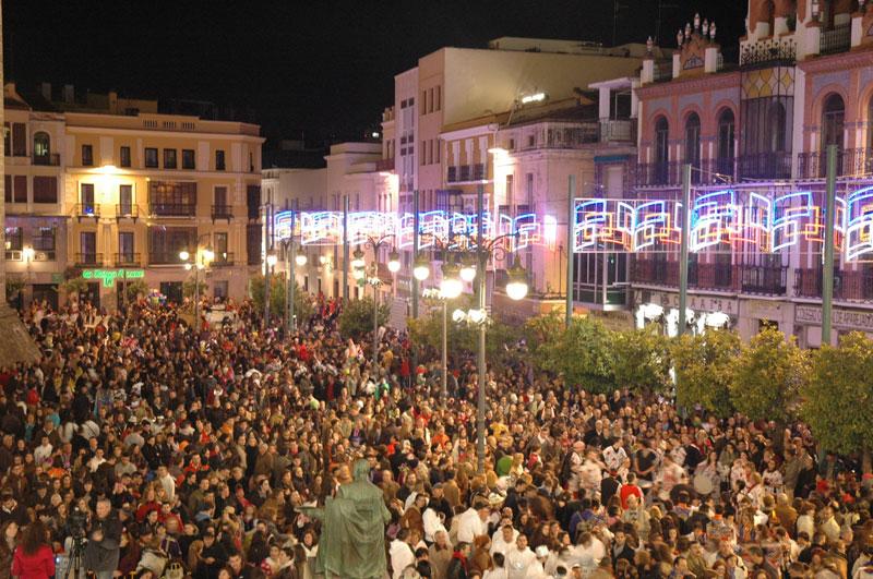 Centro de Badajoz en Carnavales
