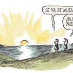 Liniers, ilustración pinguinos, dibujo
