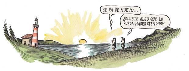 Liniers, ilustración pinguinos, dibujo, blogs de viajes