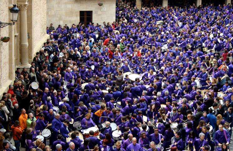 Tambores de Calanda, Semana Santa Teruel