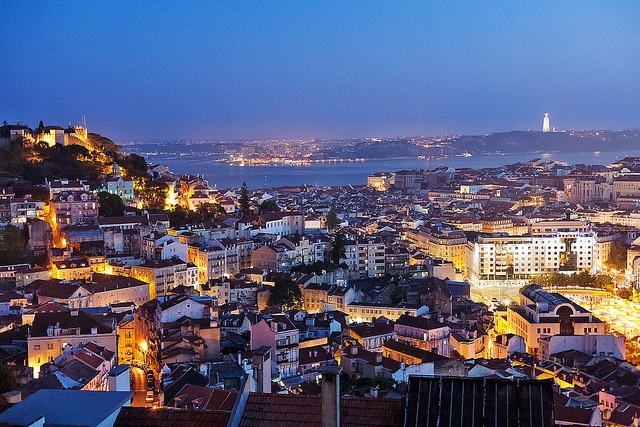 Atardecer en Lisboa, Portugal