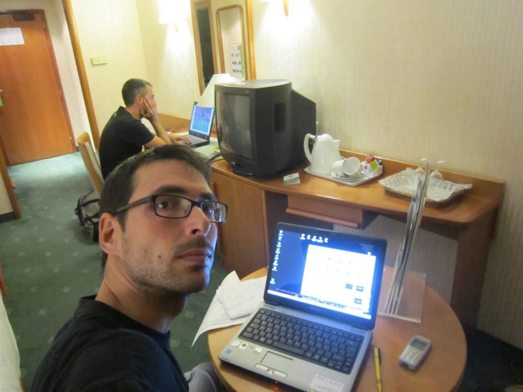 Hotel trabajando, bloggers trabajando en hotel