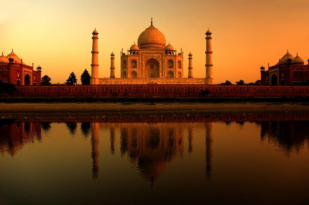 taj_mahal_atardecer, sunset at taj mahal, fotografía de viajes