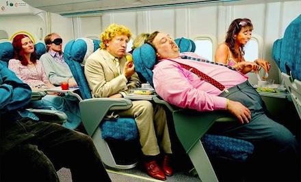 viajar en avion, asientos estrechos avión