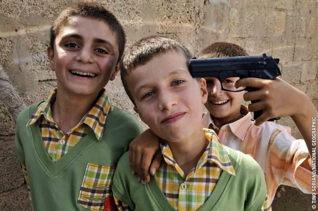 Children celebrating BAYRAM  - Turkey