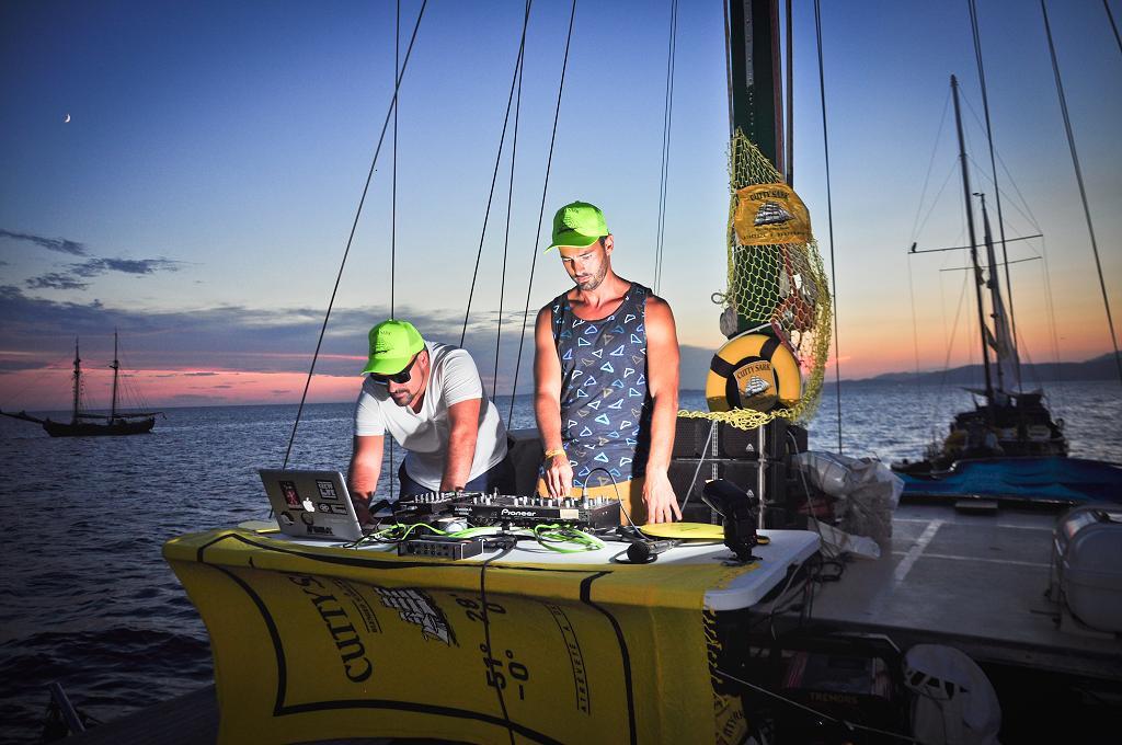 En barco por Ibiza