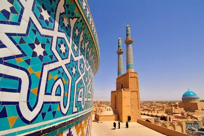 La mezquita Jameh de Yazd en Irán, Jameh Mosque Irán