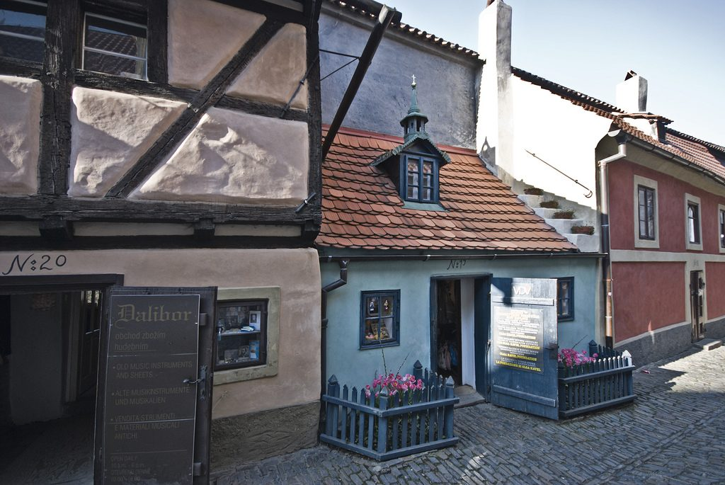 callejón del oro, casa de Franz Kafka en Praga, Kafka's house in Prague