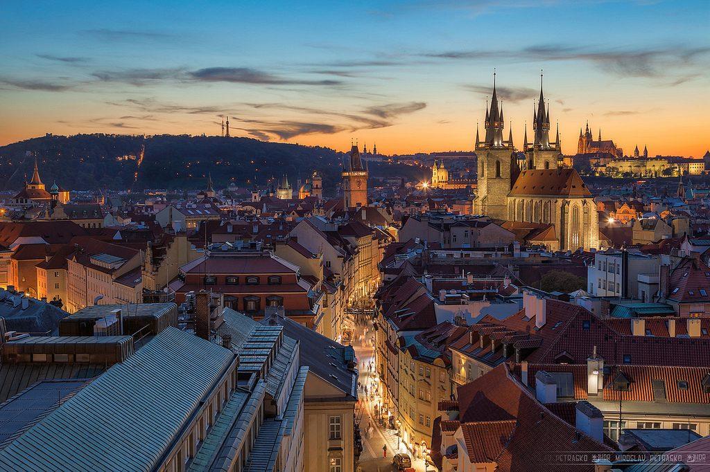 atardecer en Praga,
