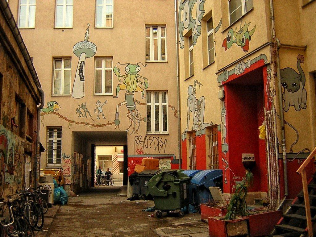 Berlín, patio de vecinos,
