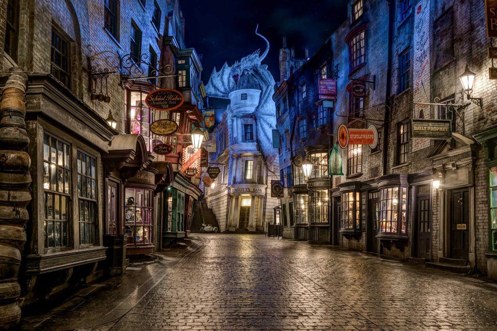 lugares imaginarios y fantásticos, callejón diagon de Harry Potter