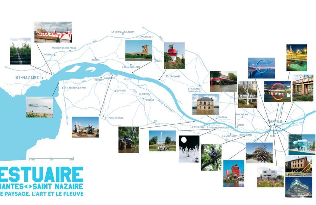 mapa estuaire de nantes
